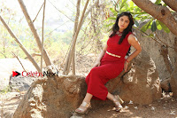 Telugu Actress Zahida Sam Latest Pos in Red Gown at RF Films New Movie Opening  0353.JPG