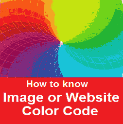 how to find website color code & color code by image online