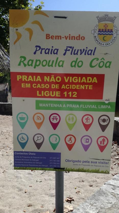Benvindo a praia Fluvial de Rapoula do Cõa