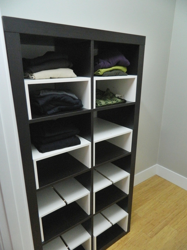little corner house ikea hack expedit inserts for the closet. Black Bedroom Furniture Sets. Home Design Ideas