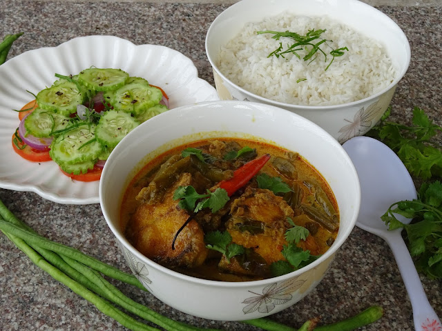 Yardlong beans & fish curry