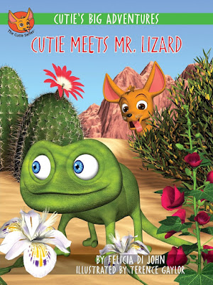 Cutie's Big Adventures Cutie Meets Mr. Lizard - Cutie is an adventurous Chihuahua that decides to go out and explore the world when her mom gets on the bus for school. Cutie's goal: find something other than this same old puppy food to eat. Her adventure leads her out into the desert where she meets Mr. Lizard and has a fun time!  Kids who love dogs will enjoy reading about Cutie's adventure.