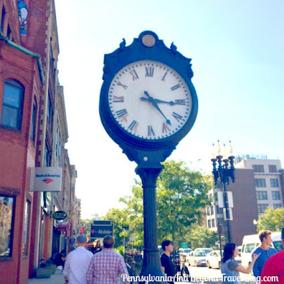 Town Clock in Downtown Boston Massachusetts
