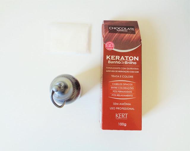 KERATON BANHO DE BRILHO - COR CHOCOLATE MARROM