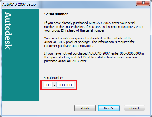 autocad 2007 activation code