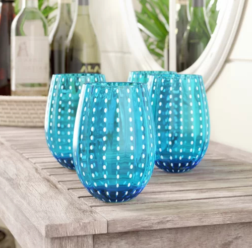 Blue Drinking Glasses for Coastal Living