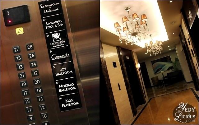 Lift and Hallway at Oakwood Manila
