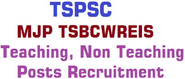TSPSC,MJP BCSWREIS,Teaching posts