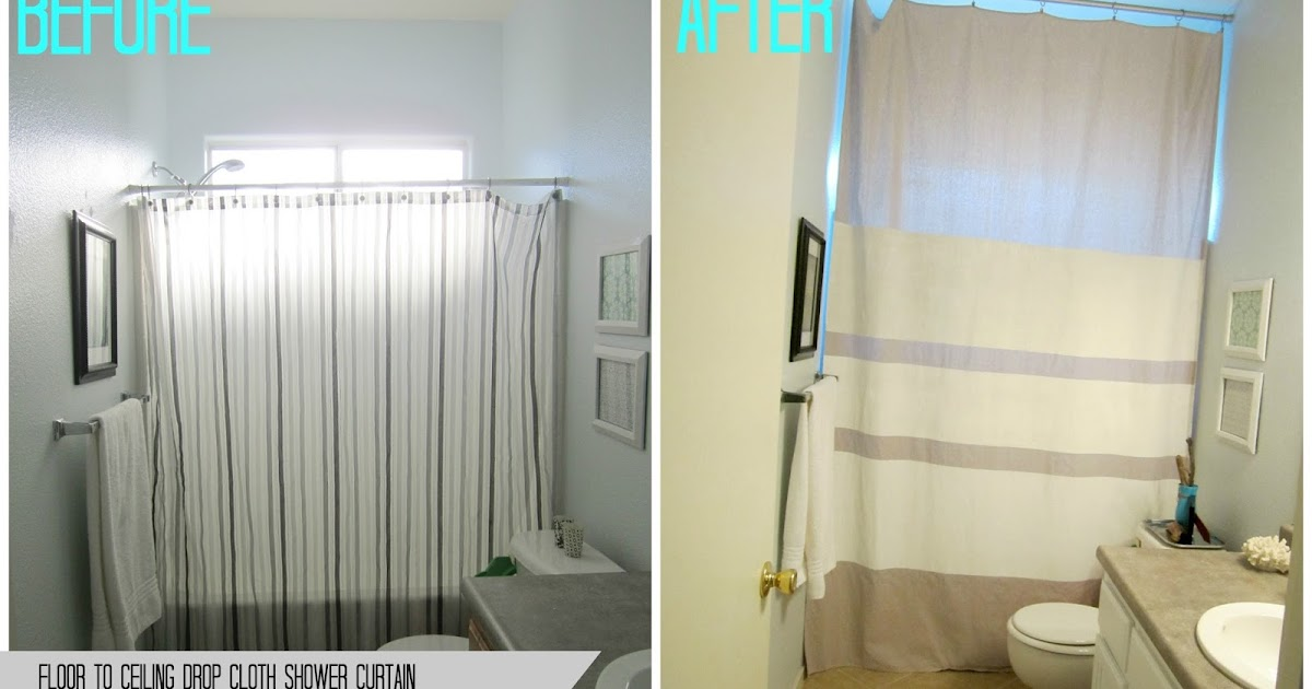 Restoration Beauty Floor To Ceiling Drop Cloth Shower Curtain