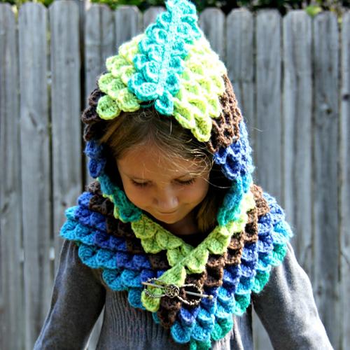 Peacock Hood - Free Pattern