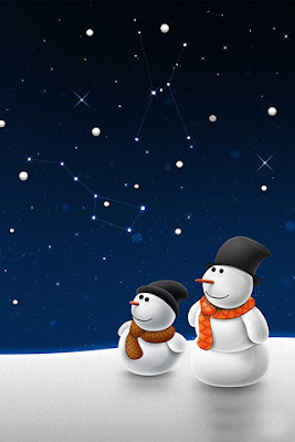 Snowmen Holiday-320x480 wallpapers