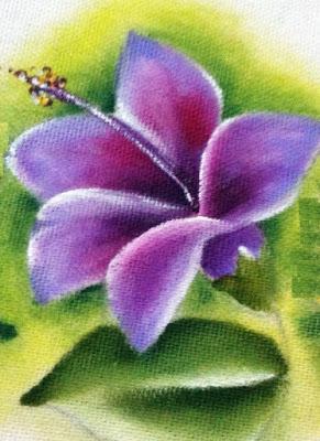 como pintar hibisco