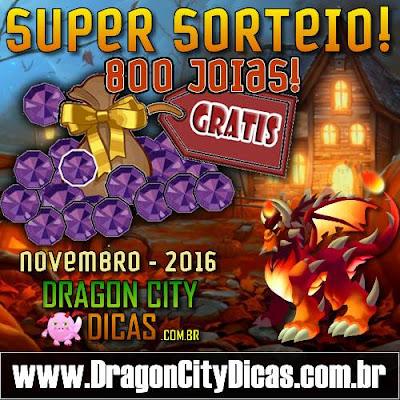 Super Sorteio de 800 Joias Grátis - Novembro 2016