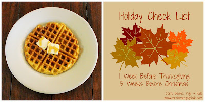 Horchata Pumpkin Waffles Recipe and Weekly Holiday Check List