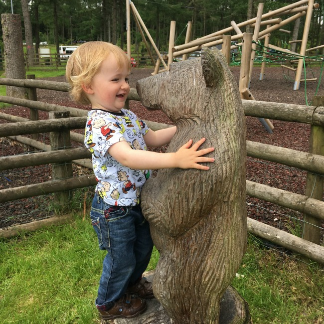 #Blogtober16-My-Favourite-Instagram-photo-toddler-with-carving-of-baby-bear