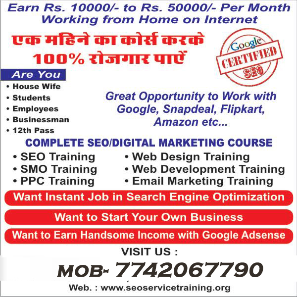 SEO COURSE TRAINING INSTITUTEON AJMER ROAD JAIPUR