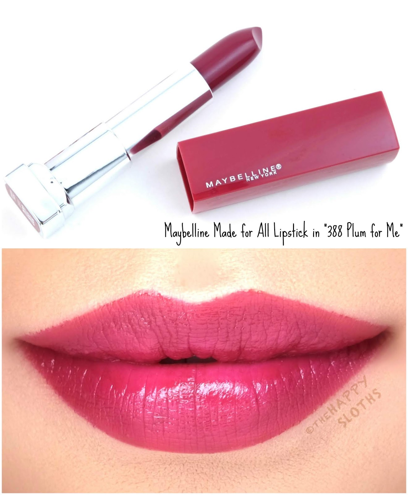 "Maybelline | Made for All Lipstick by Color Sensational in ""388 Plum for Me"": Review and Swatches"