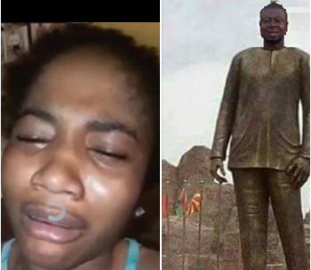 Hilarious! Lady from Imo state weeps as she demands Governor