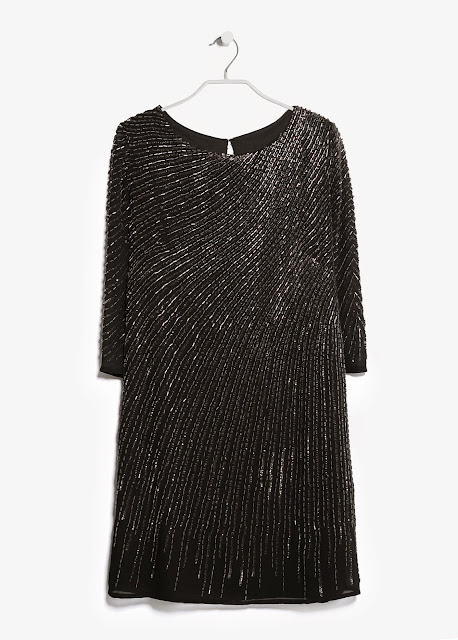 mango black sequin dress