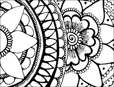 flower note card or adult coloring page