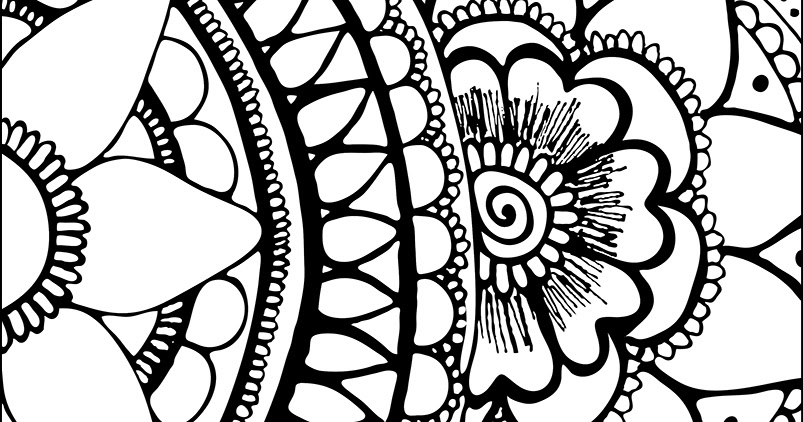 My Cup Overflows: Flower Coloring Page
