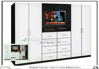 Lemari model minimalis tv unit Utah
