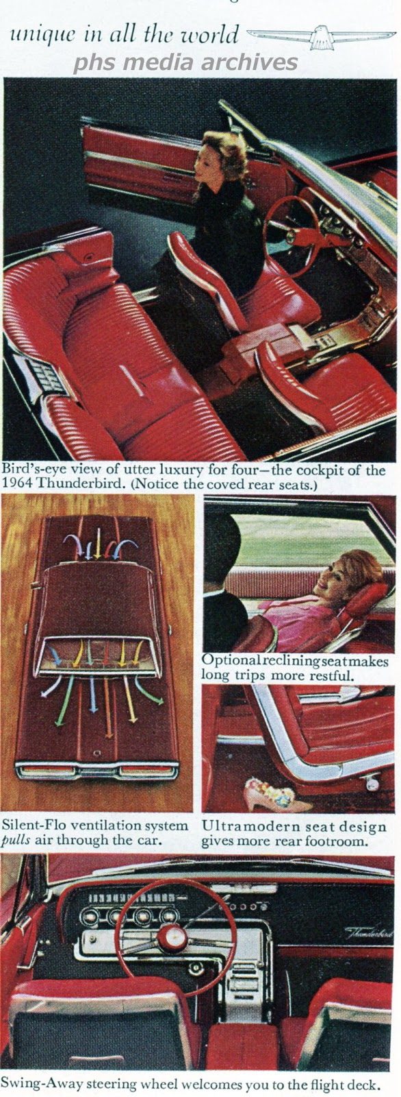 Year In Review 1964 Thunderbird Phscollectorcarworld T Bird Wiring Diagram Seat Ford Was Trying To Set The Pace For Personal Luxury Cars And Didnt Heed Bob Tasca High Performance Additions
