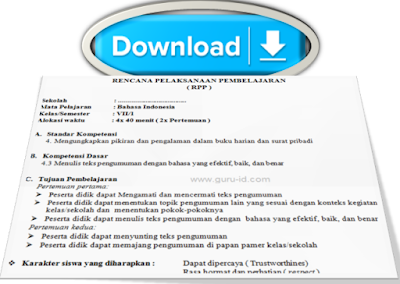 gambar download RPP kelas 7 bahasa Indonesia