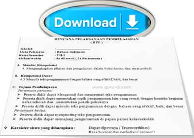 gambar unduh RPP kelas 7 bahasa Indonesia