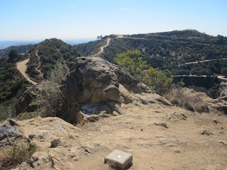 View south from Mt. Bell toward Mt. Hollywood, Griffith Park