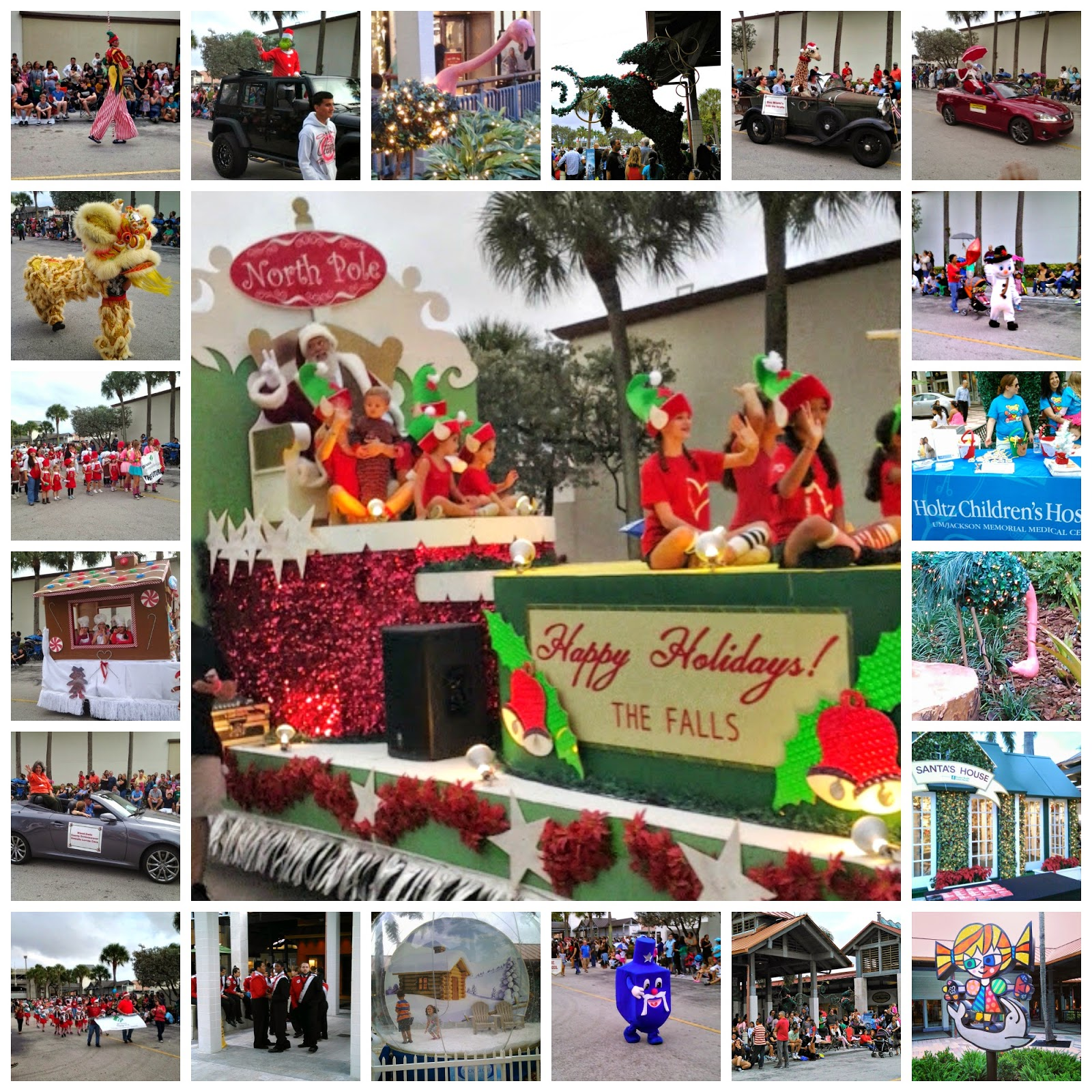 The Falls Miami Macy Christmas Parade Santa Britto Bands