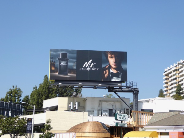 Mr Burberry fragrance 2017 billboard