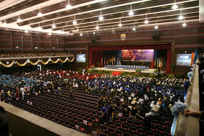 The overview of half of Dewan Tunku Canselor from the second floor.