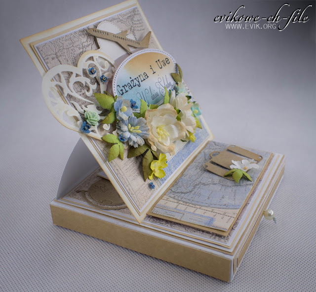 Wild Orchid Crafts flowers, Ewa Jarlińska, Evik, Kartka ślubna, rękodzieło, together forever signature collection forever in my heart, wedding card