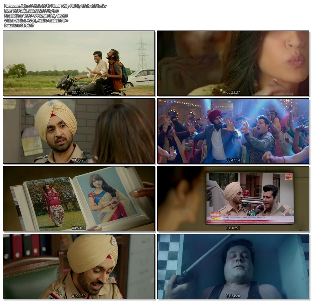 Arjun Patiala 2019 Hindi 720p HDRip ESub x264   480p 300MB   100MB HEVC Screenshot