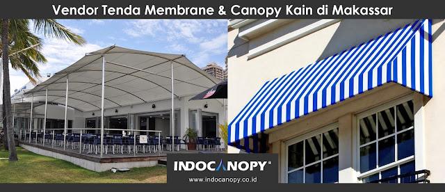 Vendor Tenda Membrane dan Canopy Kain di Makassar