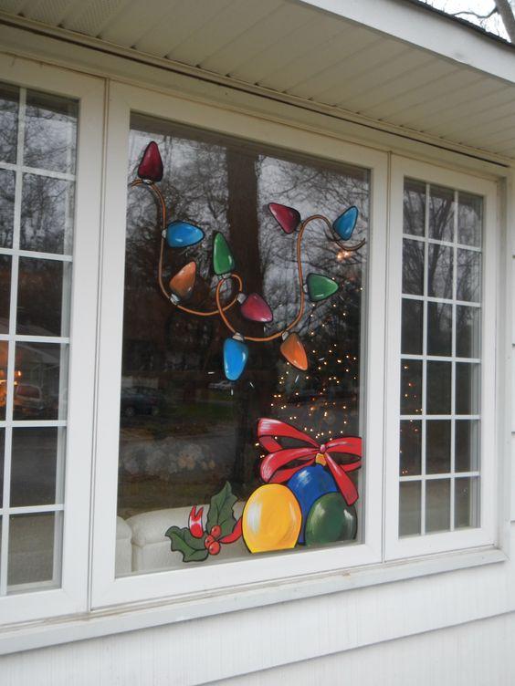 Aprende c mo decorar ventanas y puertas de vidrio en esta for Como adornar puertas y ventanas en navidad
