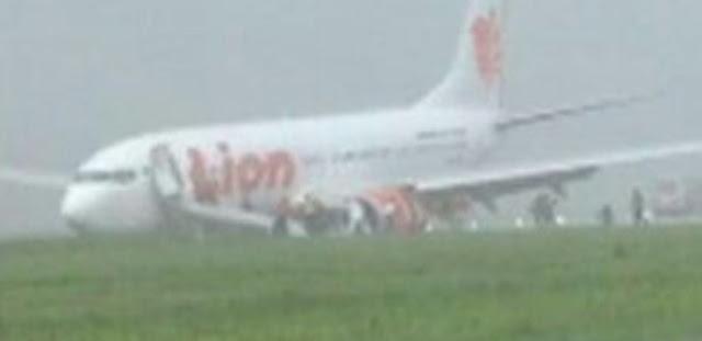 Pesawat Lion Air Tergelincir di Bandara Supadio Pontianak