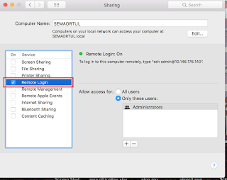 mac ssh remote login