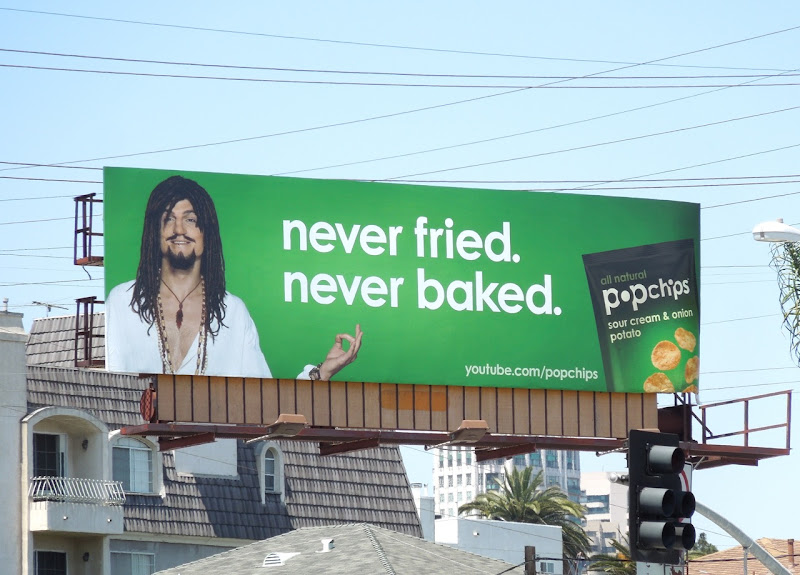 Ashton Kutcher Hippie Popchips billboard