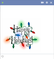 Happy Holidays Facebook Emoticon