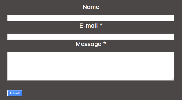 Responsive Full Width Contact Form for Contact Page