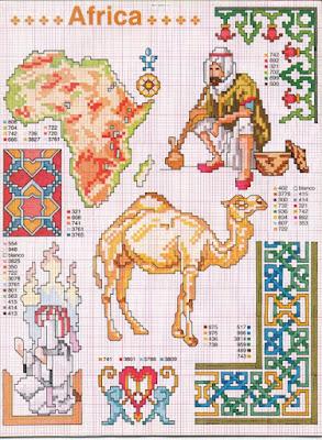 punto de cruz patrones África