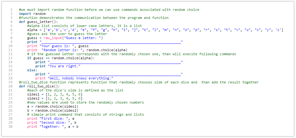 Python - Roll 2 Dice Function-Code & Guess_letter() | Mario