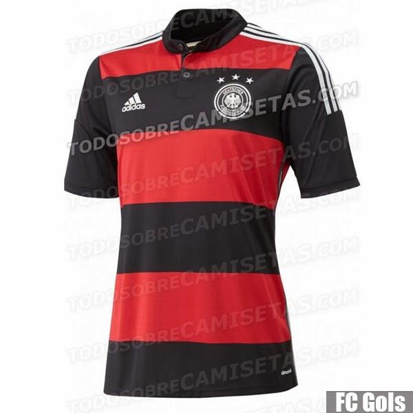 00f53242a4 ... quando assistirem aos jogo da Alemanha na Copa do Mundo. Isso porque o  novo segundo uniforme do time germânico foi inspirado justamente no  rubro-negro ...