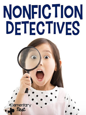 nonfiction reading comprehension- engaging reading passages and activities to help teach students nonfiction comprehension- with a detective theme