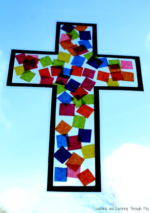 Cross Suncatcher Craft - Easter Crafts for Kids