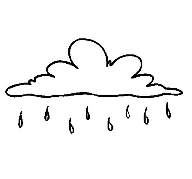 dibujos de nubes para colorear
