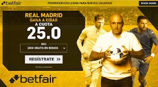betfair Real Madrid gana a Eibar a cuota 25.00 10-3-2018