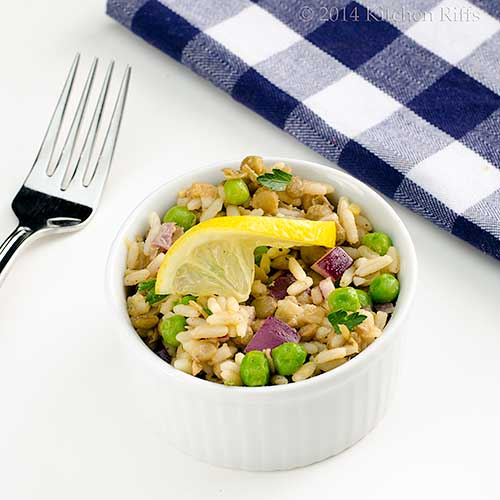 Lentil, Rice, and Pea Salad